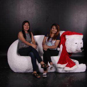fiberglass polar bear bench