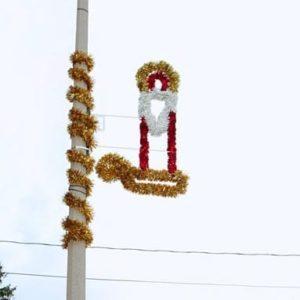 glitter candle stick pole display
