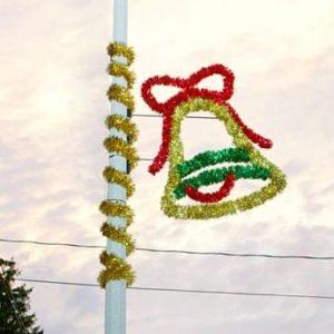 glitter bell pole display