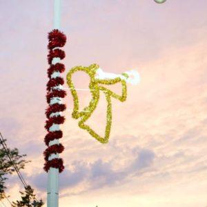 glitter angel pole display