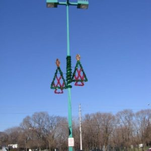 glitter tree pole display