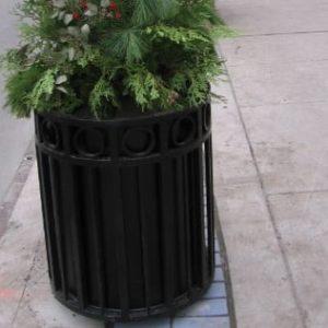 steel flower planter