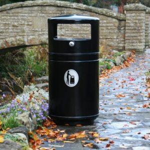 steel commercial litter bin with european style