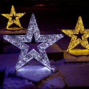 3 dimensional illuminated star