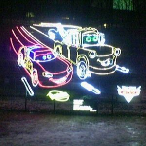 disney cars custom christmas display