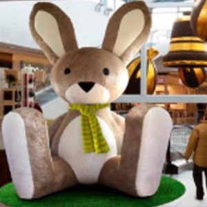 inflatable easter bunny