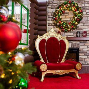 rococo santa throne