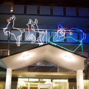 illuminated santa sleigh