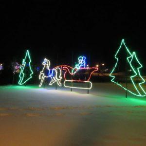 custom christmas display light up the hills
