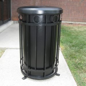 standard steel commercial waste container