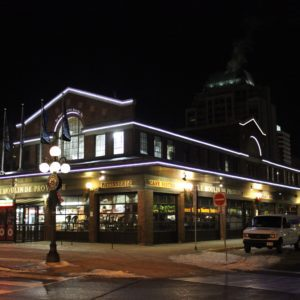 byward market outlined in rope light
