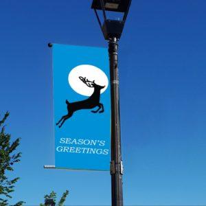 leaping reindeer banner