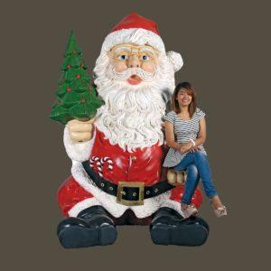 fiberglass sitting santa