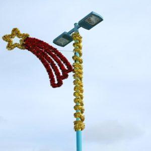 glitter shooting star pole displays