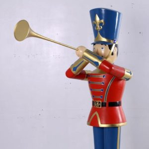 fiberglass toy soldier with trumpet