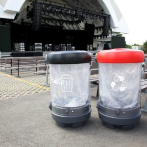 Transparent Waste & Recycling Containers