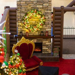 custom santa cabin prairie mall
