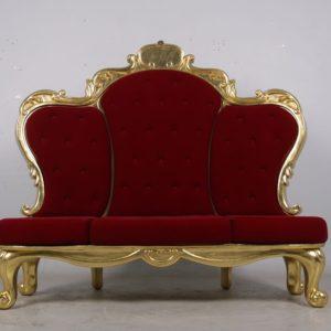 grand rococo santa throne