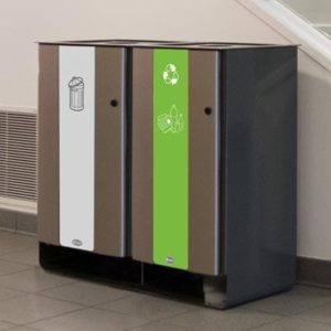 Electra 170 Duo commercial waste and recycling system
