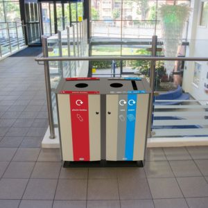 Electra 170 commercial waste and recycling containers