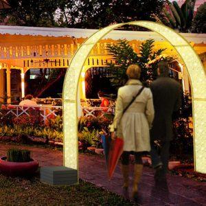 illuminated lorca archway