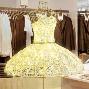 3 dimensional illuminated dress