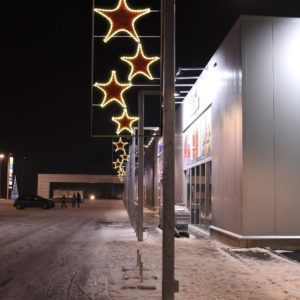 hollywood stars pole display