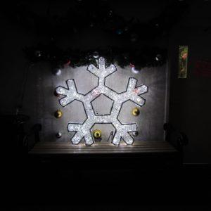 3 dimensional illuminated snowflake
