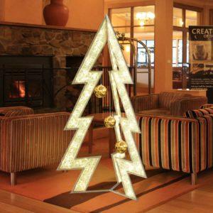 suva 3 dimensional illuminated tree