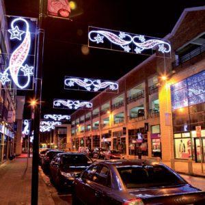 warrington illuminated pole display