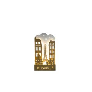 illuminated paris post card