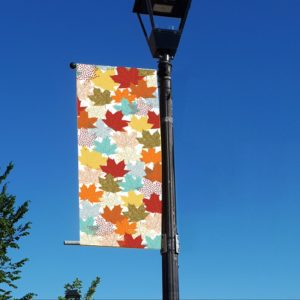 abstract autumn leaves banner