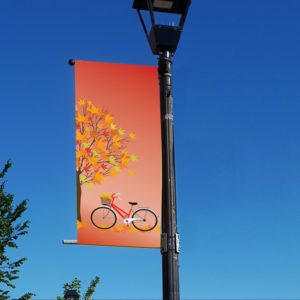 autumn bicycle banner