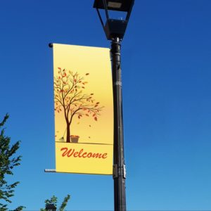 autumn tree welcome banner