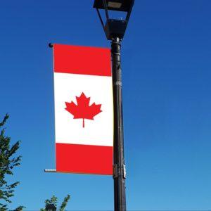 vertical canadian flag banner