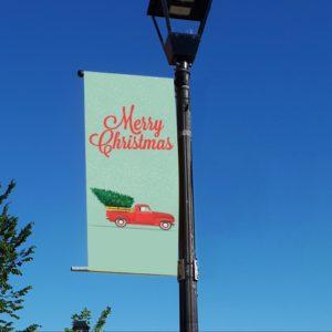 christmas truck banner