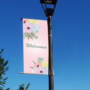 mixed flowers banner