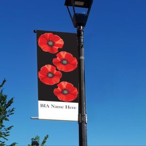 poppy remembrance day banner