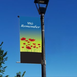 poppy style 2 remembrance day banner