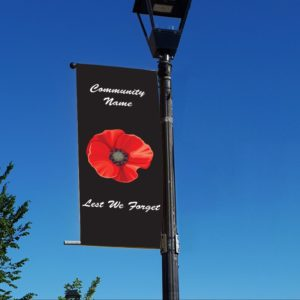 poppy style 3 remembrance day banner