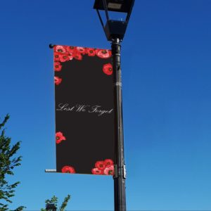 poppy style 5 remembrance day banner