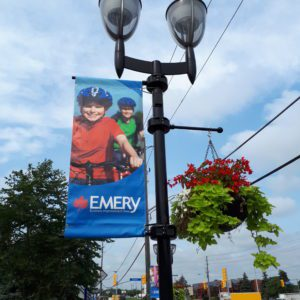 custom emery village banner