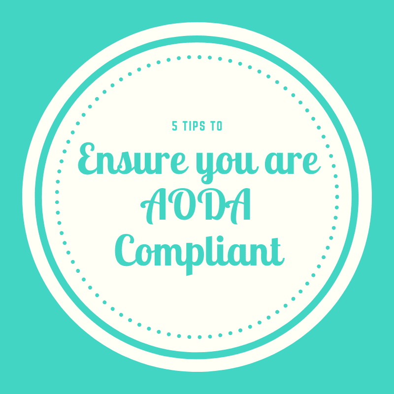 How to Ensure you are AODA compliant