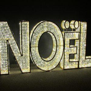 illuminated noel sign