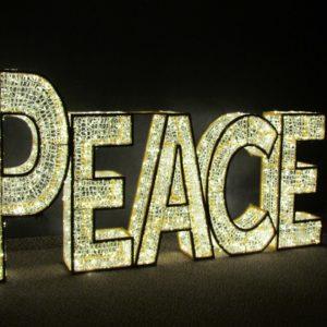 illuminated peace sign