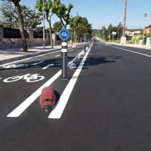 Cycle Safe cycling Bollard that is a lane separator