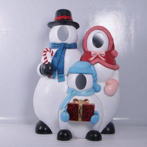 Fiberglass snowman photo op